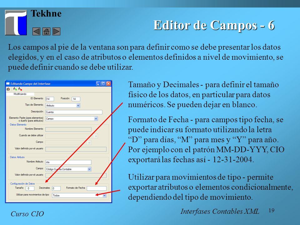 Editor de Campos - 6 Tekhne