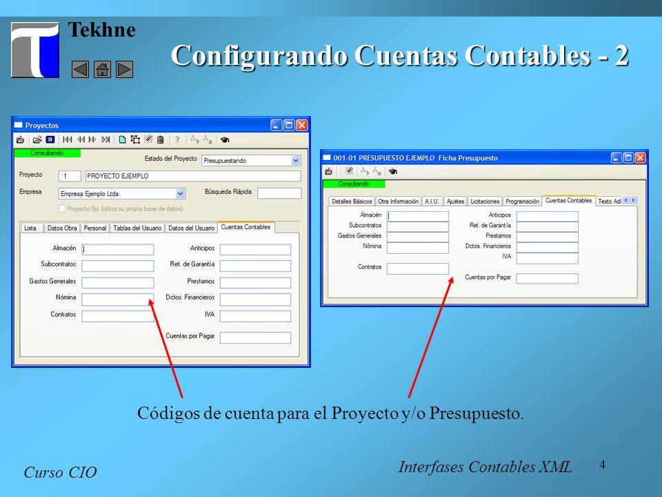 Configurando Cuentas Contables - 2