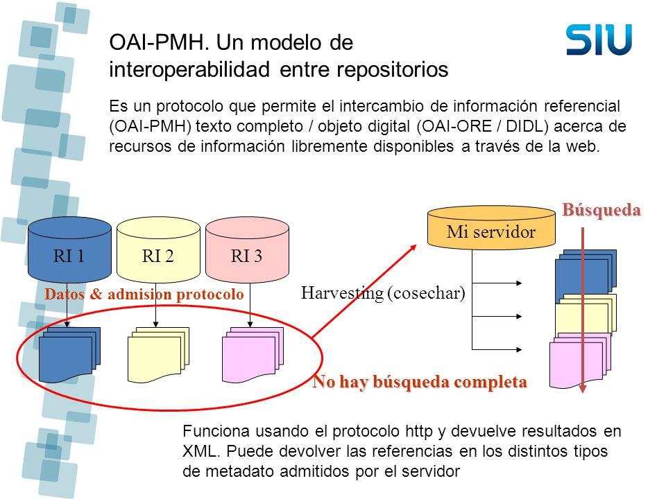 OAI-PMH. Un modelo de interoperabilidad entre repositorios