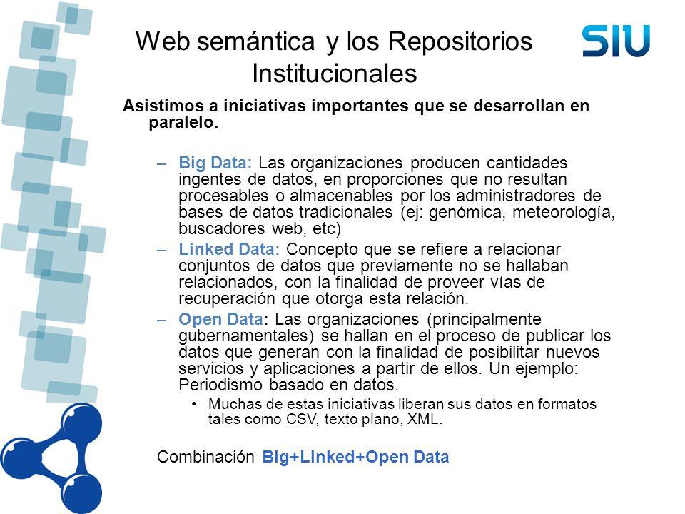 Web semántica y los Repositorios Institucionales