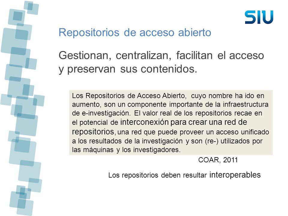 Repositorios de acceso abierto