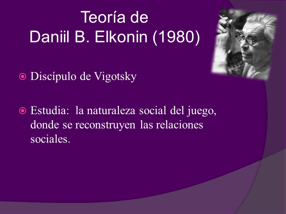 Teoría de Daniil B. Elkonin (1980)
