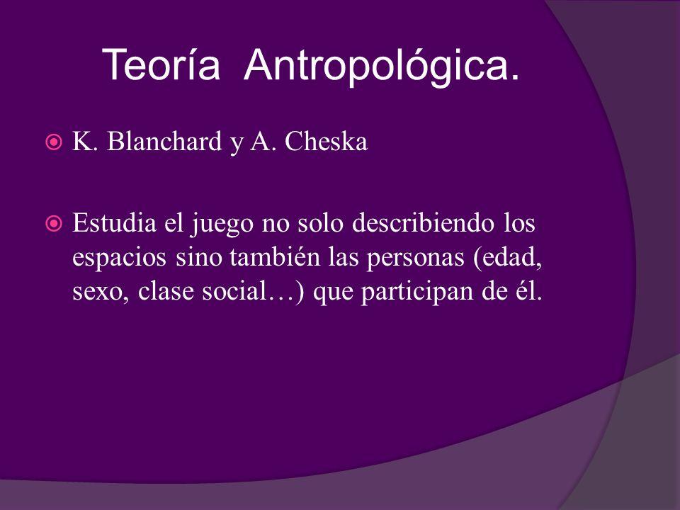 Teoría Antropológica. K. Blanchard y A. Cheska
