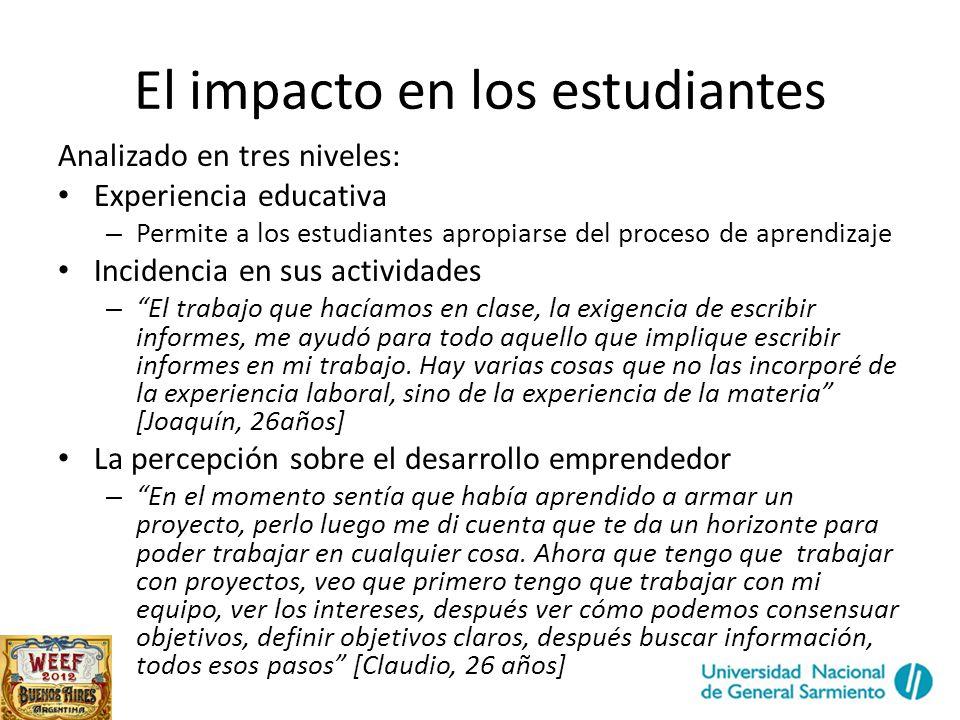 El impacto en los estudiantes