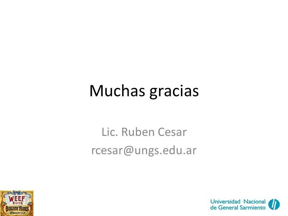 Lic. Ruben Cesar rcesar@ungs.edu.ar