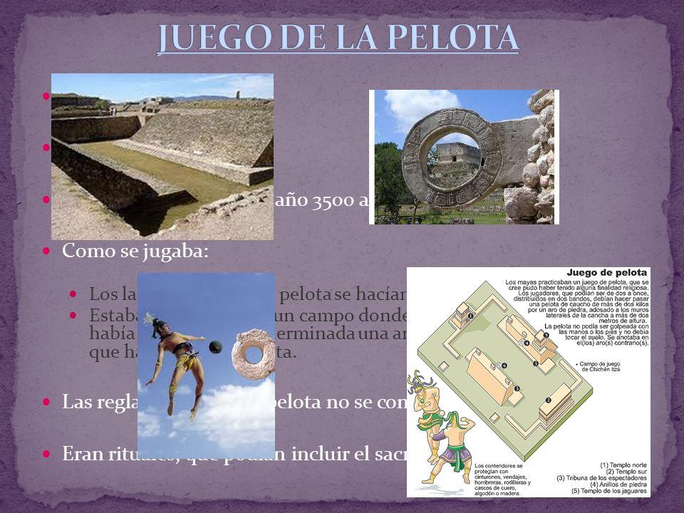 JUEGO DE LA PELOTA Origen del fútbol. Origen: Mesoamérica