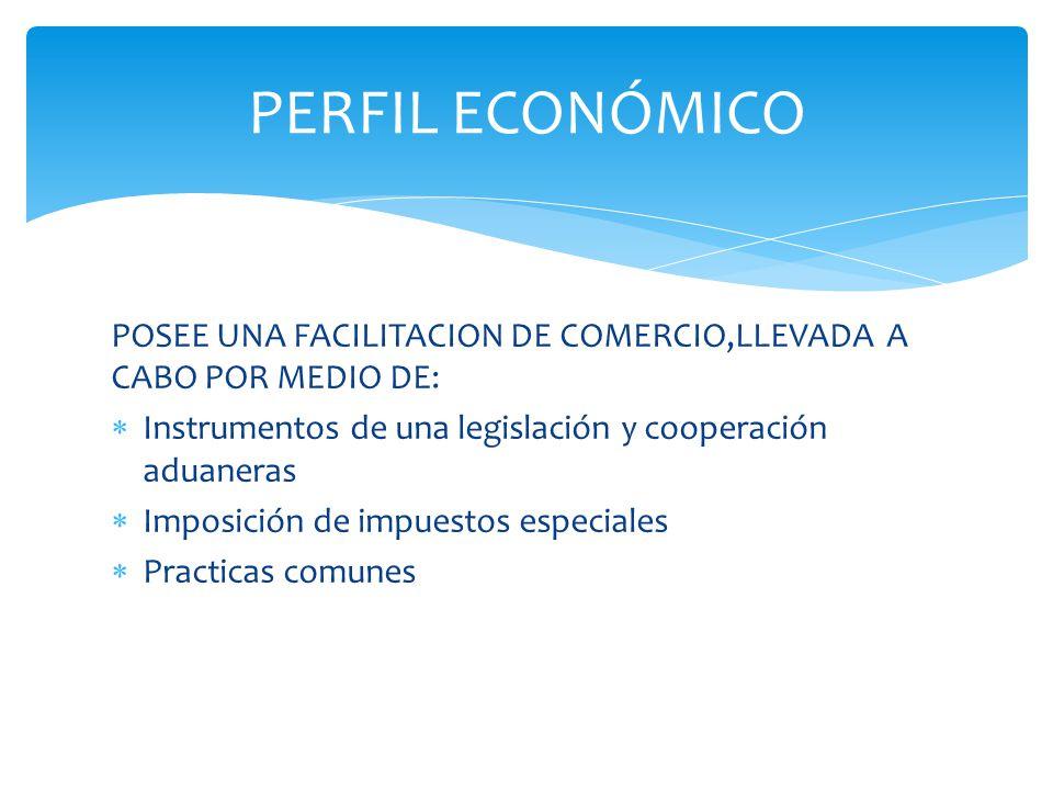 PERFIL ECONÓMICO POSEE UNA FACILITACION DE COMERCIO,LLEVADA A CABO POR MEDIO DE: Instrumentos de una legislación y cooperación aduaneras.