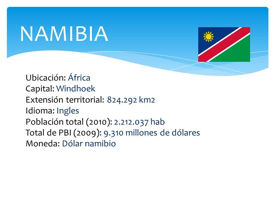 NAMIBIA Ubicación: África Capital: Windhoek
