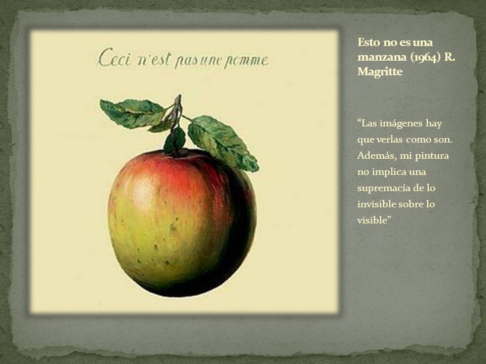 Esto no es una manzana (1964) R. Magritte