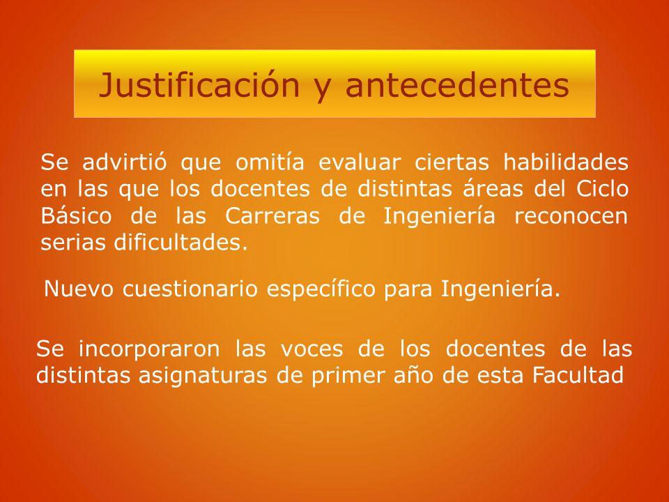Justificación y antecedentes