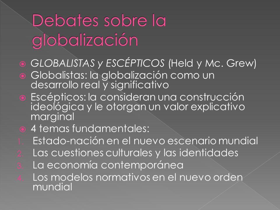 Debates sobre la globalización