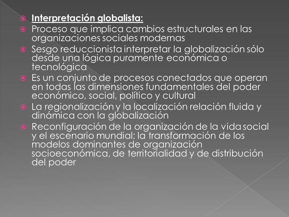 Interpretación globalista: