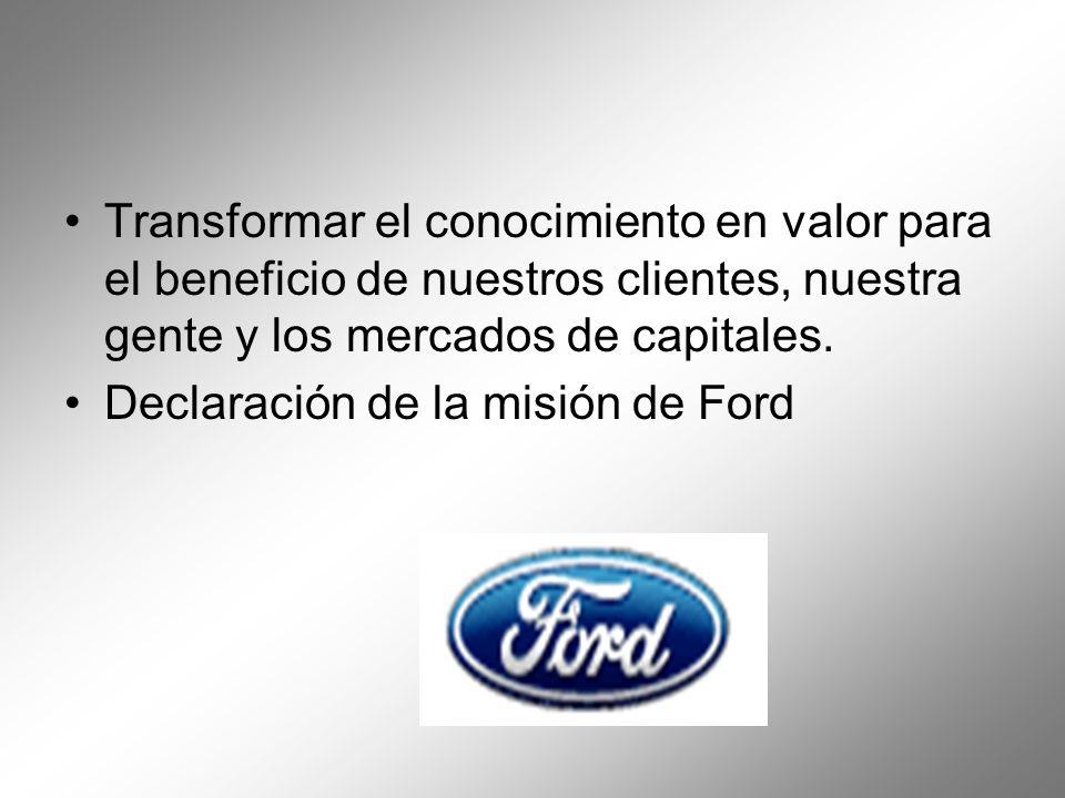 Transformar el conocimiento en valor para el beneficio de nuestros clientes, nuestra gente y los mercados de capitales.