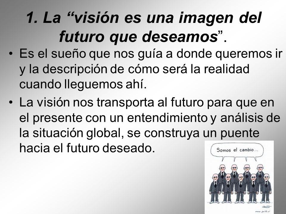 1. La visión es una imagen del futuro que deseamos .