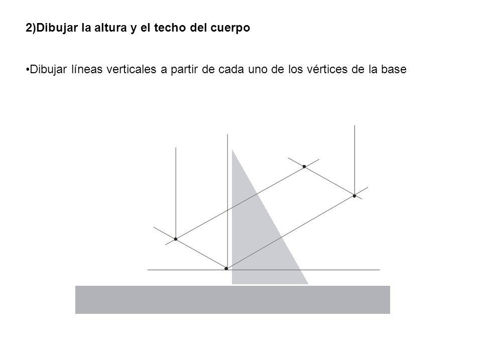 2)Dibujar la altura y el techo del cuerpo