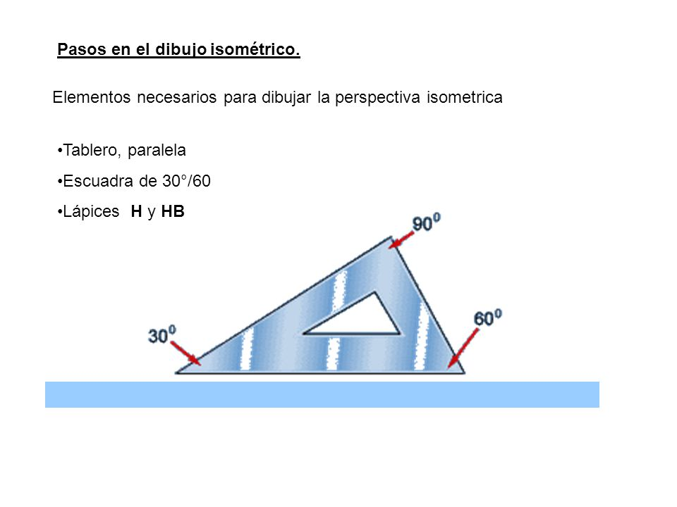 Pasos en el dibujo isométrico.