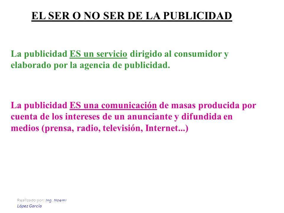 EL SER O NO SER DE LA PUBLICIDAD