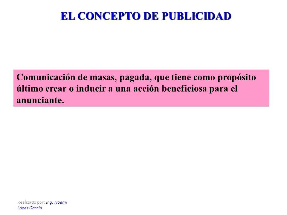 EL CONCEPTO DE PUBLICIDAD