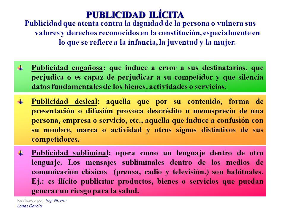 PUBLICIDAD ILÍCITA