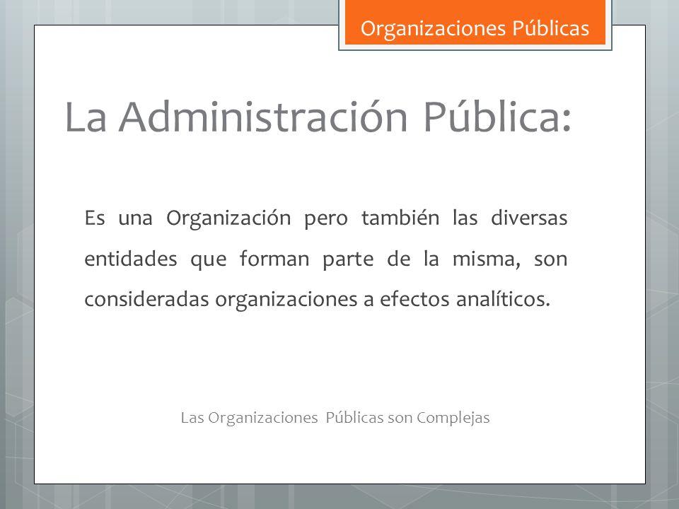 La Administración Pública: