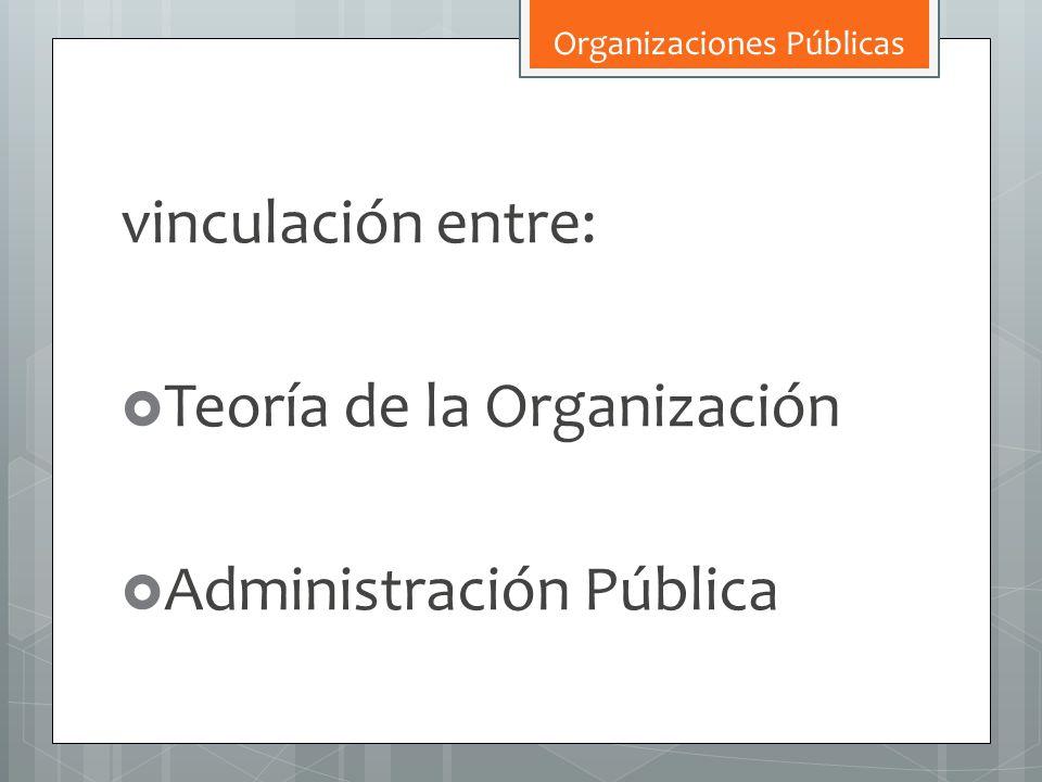Teoría de la Organización Administración Pública