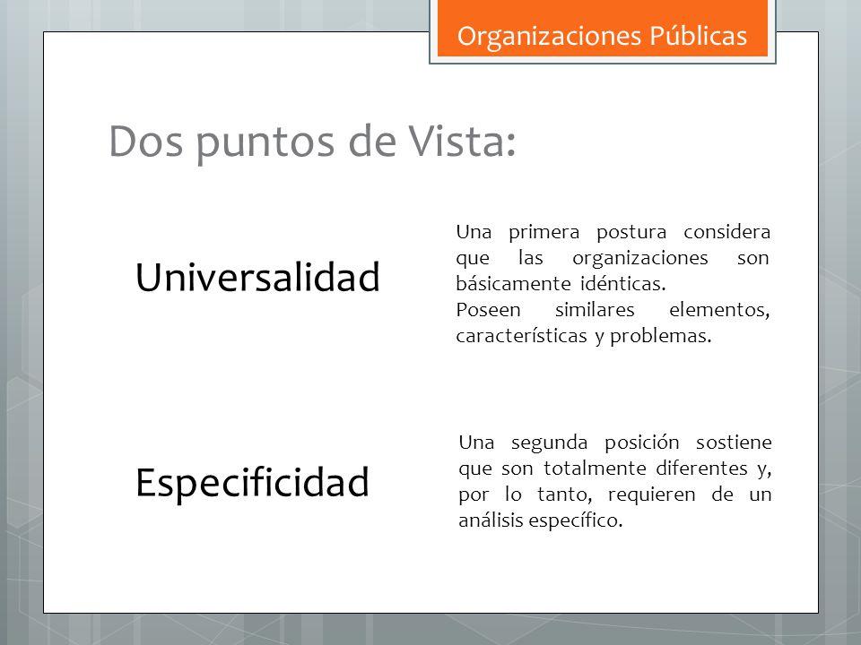 Dos puntos de Vista: Universalidad Especificidad