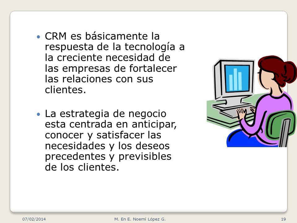 CRM es básicamente la respuesta de la tecnología a la creciente necesidad de las empresas de fortalecer las relaciones con sus clientes.