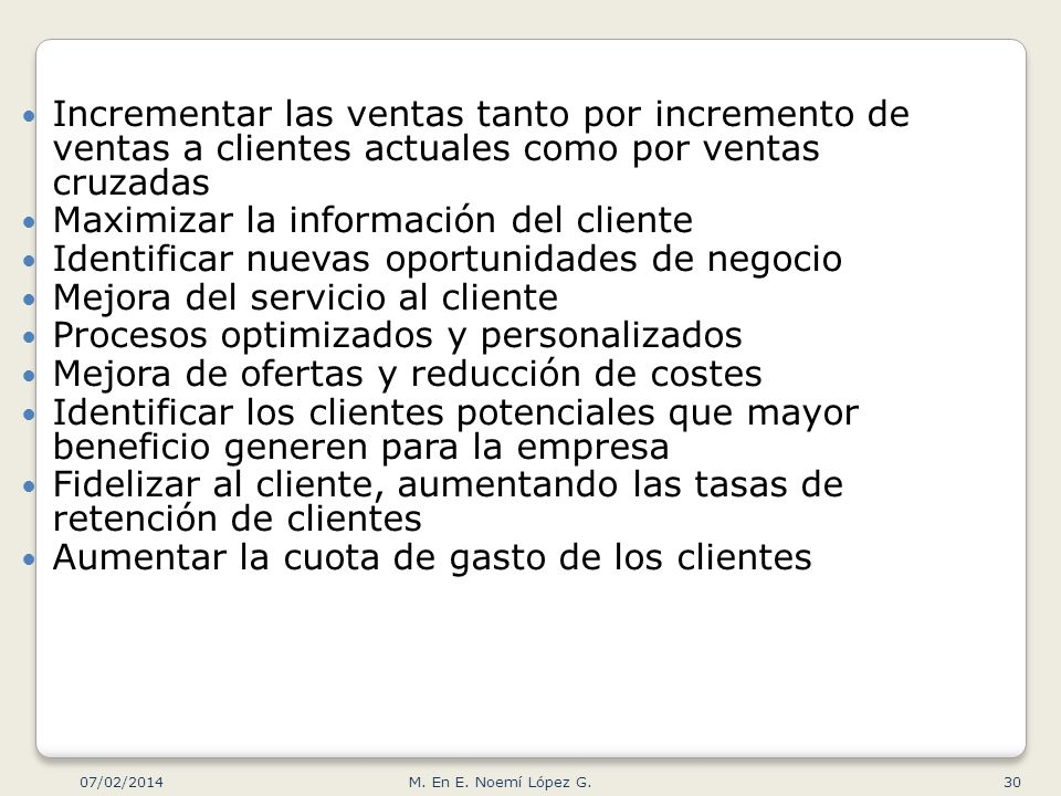 Maximizar la información del cliente