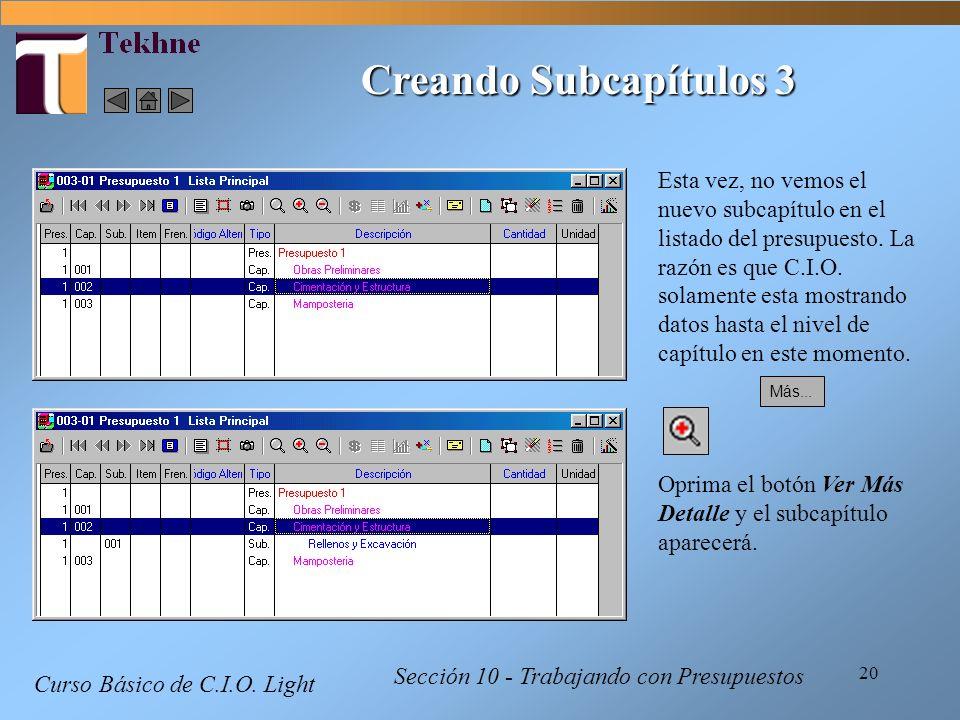 Creando Subcapítulos 3