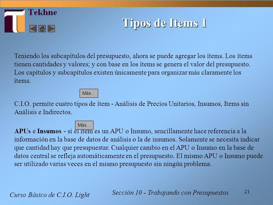 Tipos de Items 1