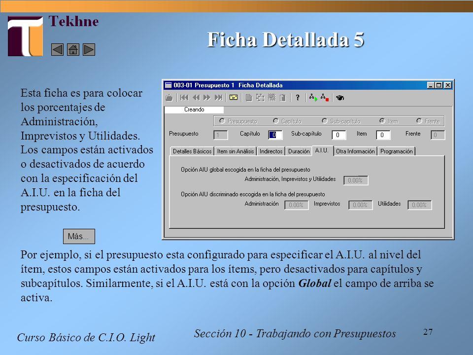 Ficha Detallada 5