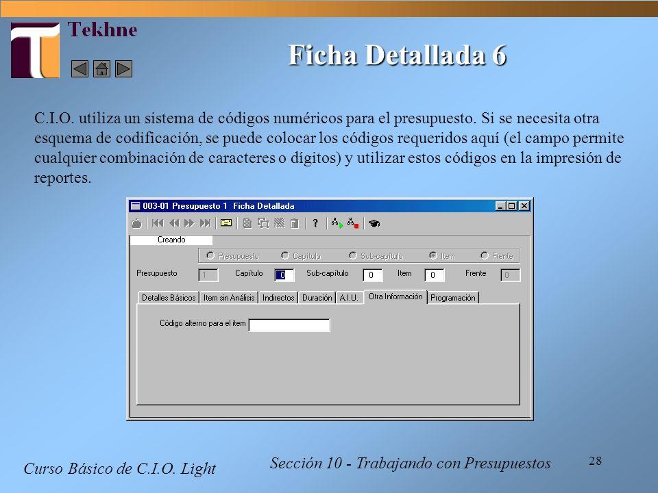 Ficha Detallada 6