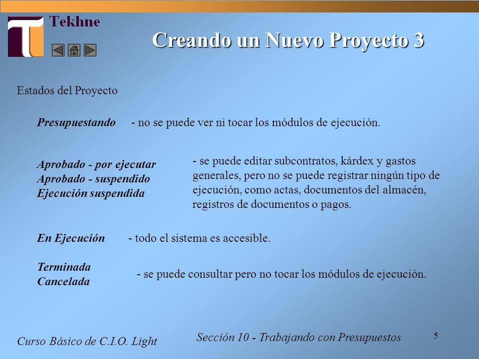 Creando un Nuevo Proyecto 3