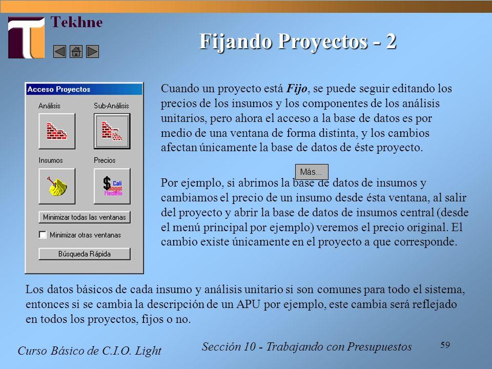 Fijando Proyectos - 2