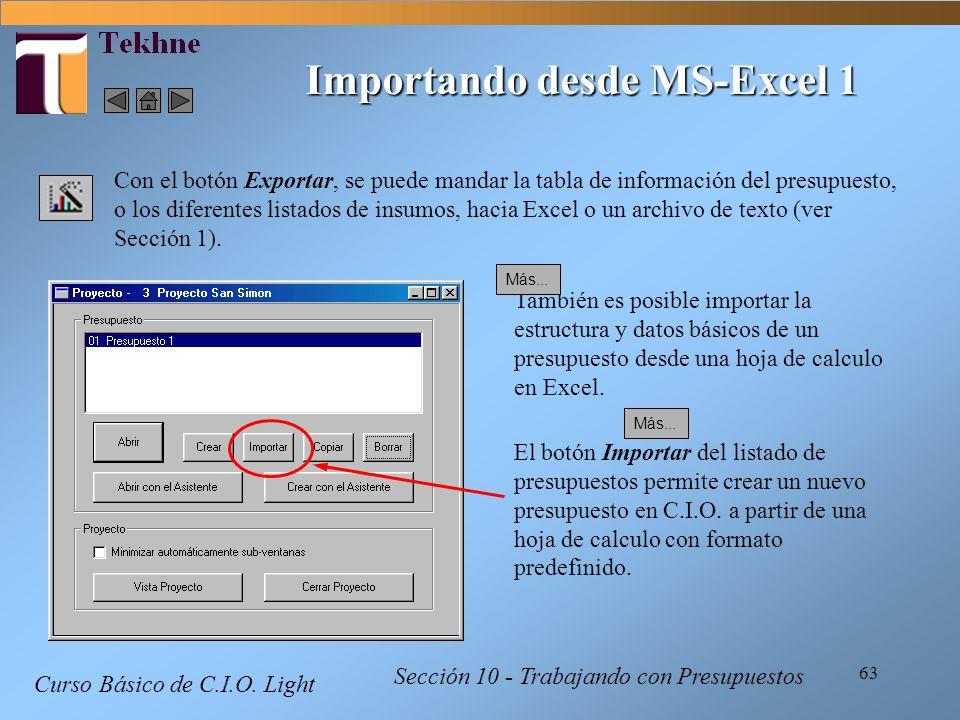 Importando desde MS-Excel 1