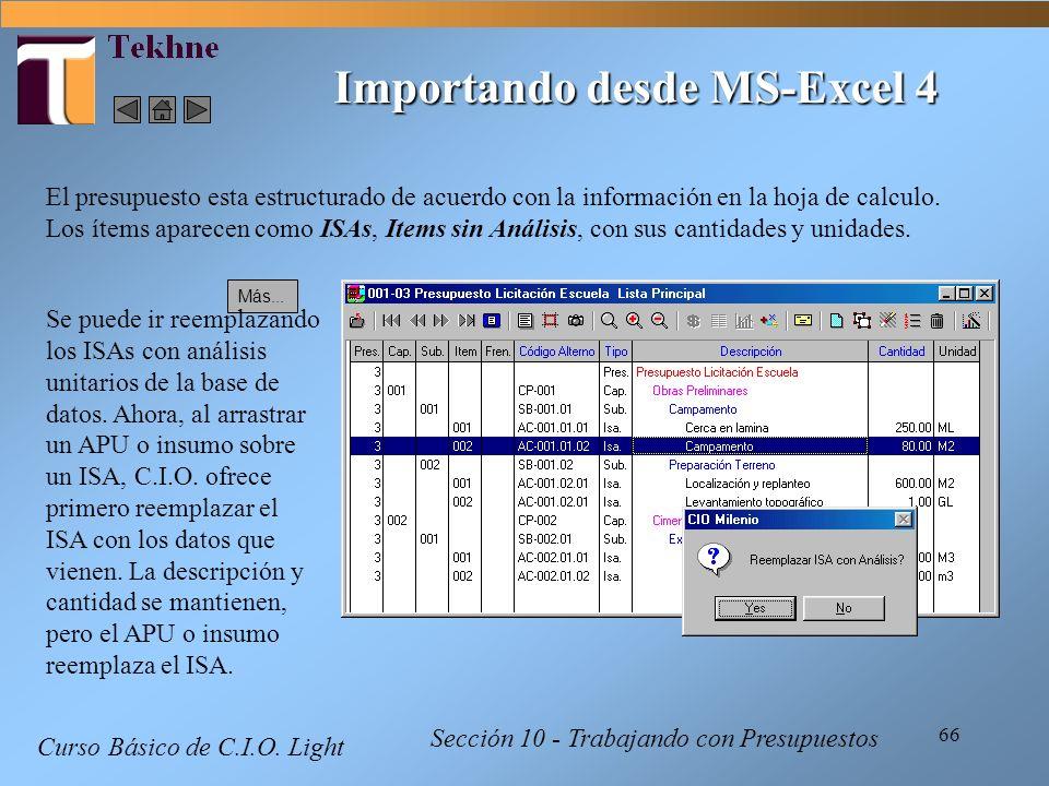 Importando desde MS-Excel 4