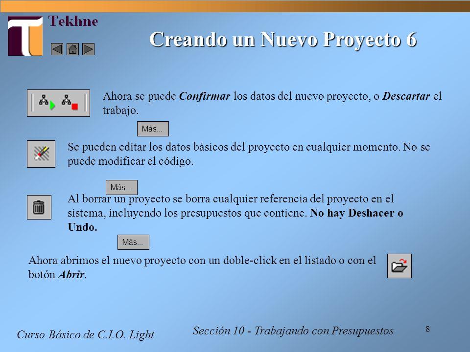 Creando un Nuevo Proyecto 6