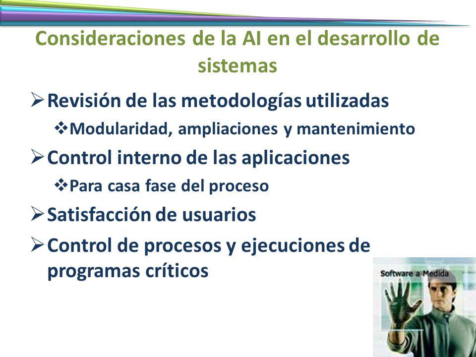Consideraciones de la AI en el desarrollo de sistemas
