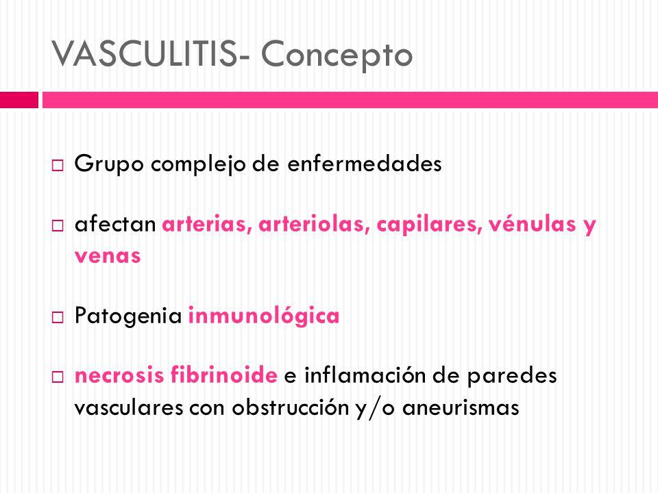 VASCULITIS- Concepto Grupo complejo de enfermedades