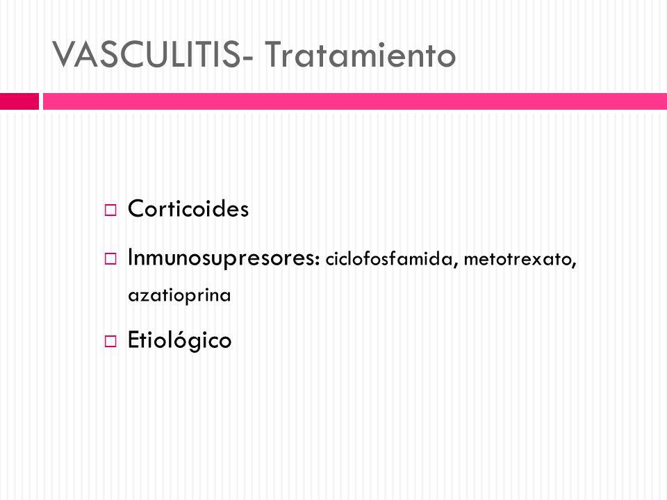 VASCULITIS- Tratamiento