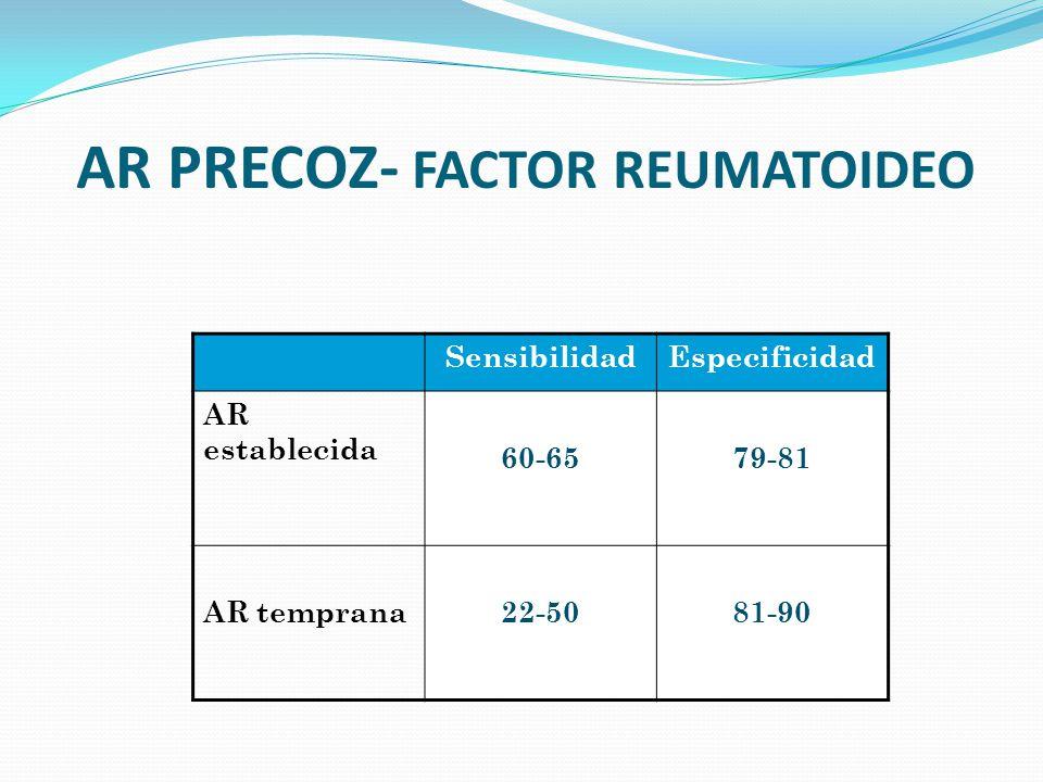AR PRECOZ- FACTOR REUMATOIDEO