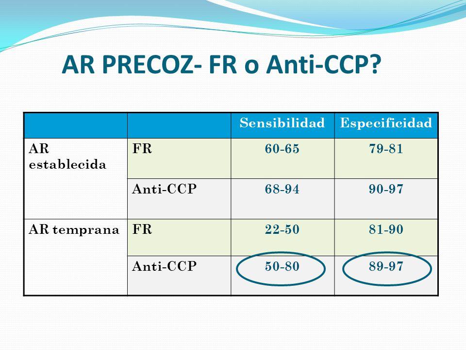 AR PRECOZ- FR o Anti-CCP