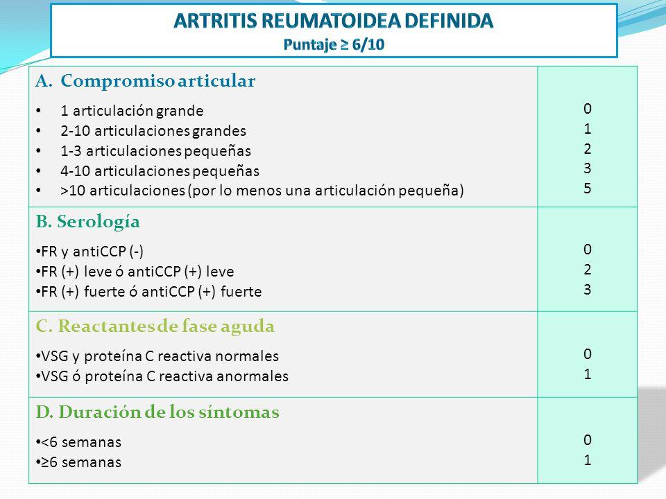 ARTRITIS REUMATOIDEA definida