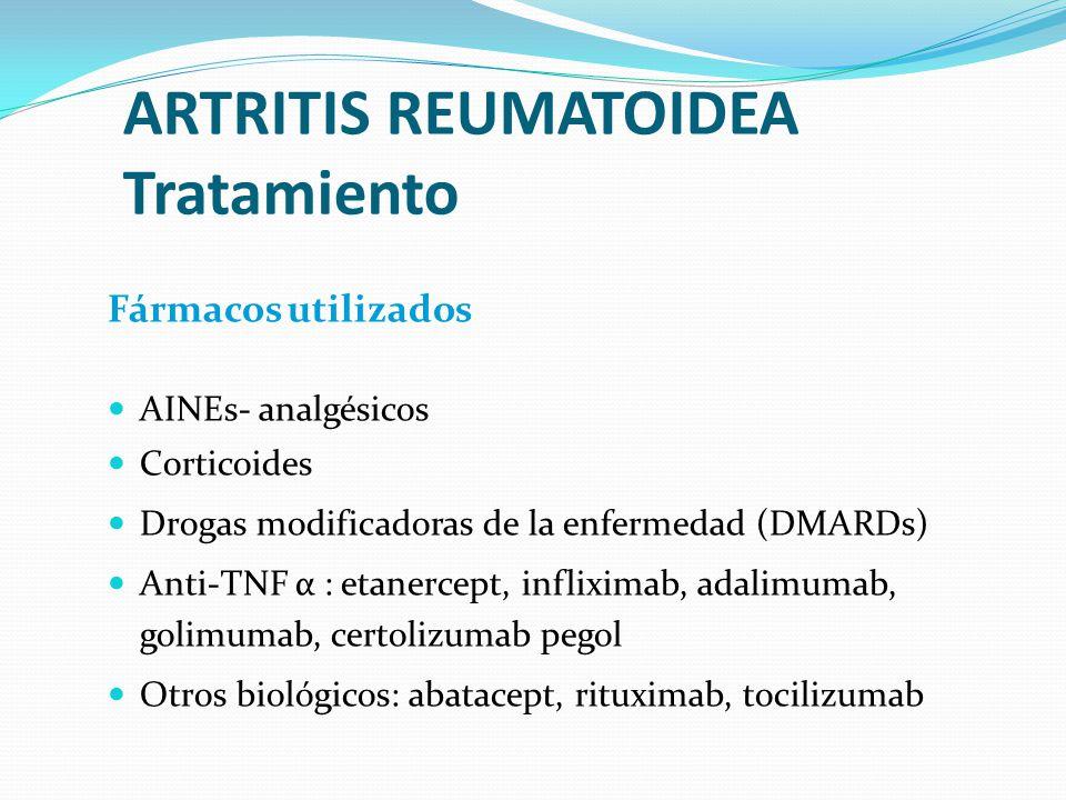 ARTRITIS REUMATOIDEA Tratamiento
