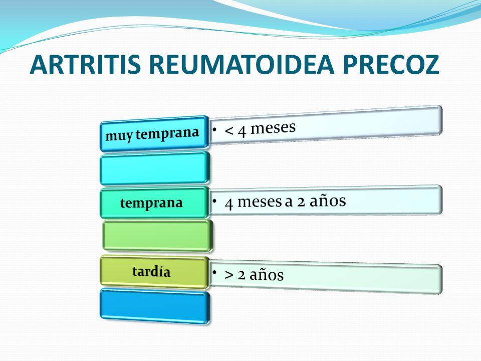 ARTRITIS REUMATOIDEA PRECOZ