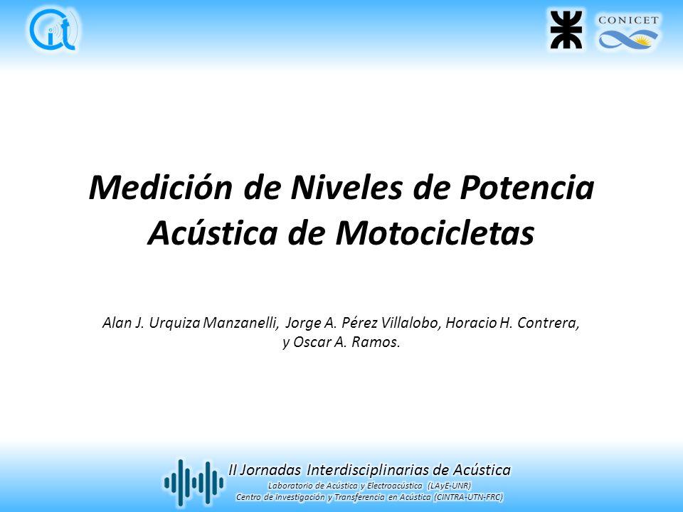 Medición de Niveles de Potencia Acústica de Motocicletas