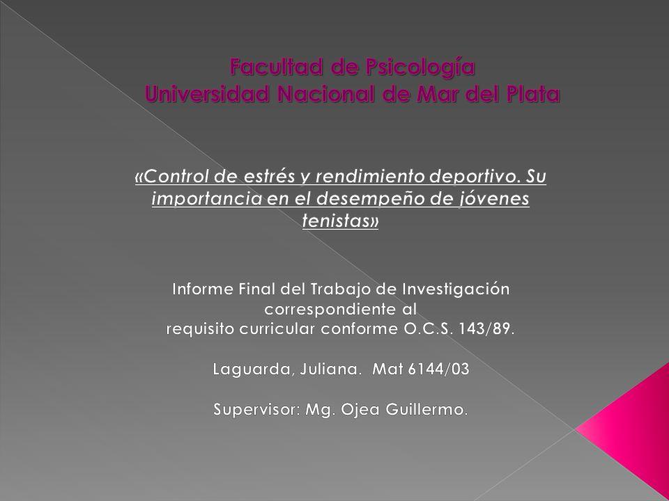 Facultad de Psicología Universidad Nacional de Mar del Plata