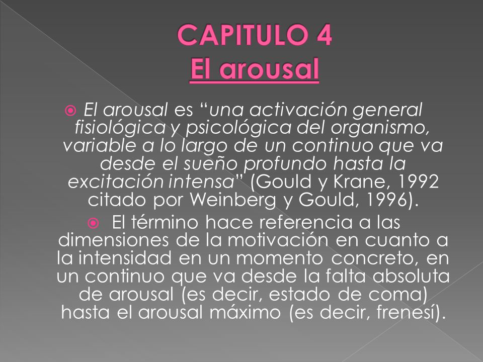CAPITULO 4 El arousal