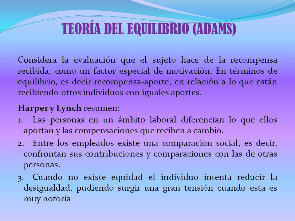 TEORÍA DEL EQUILIBRIO (ADAMS)