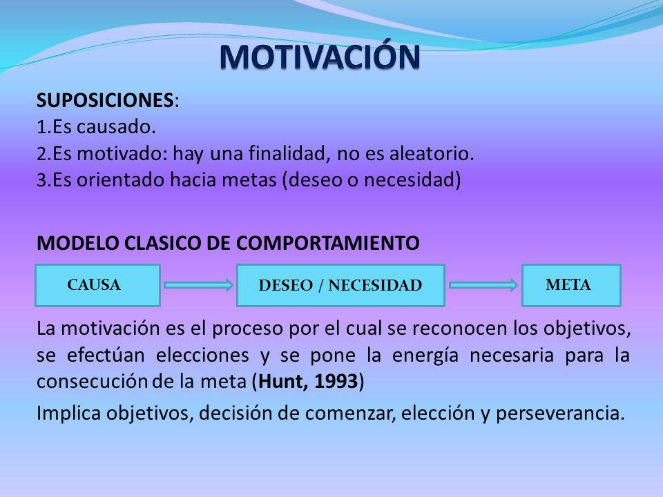 MOTIVACIÓN SUPOSICIONES: Es causado.